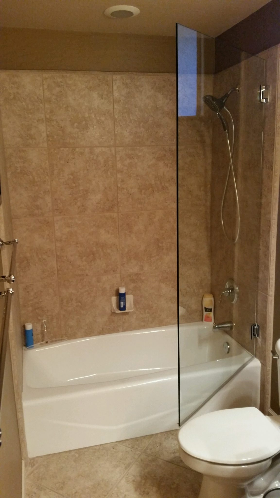 bathtub doors door enclosures shower rain hinged frameless bath glass installation tub