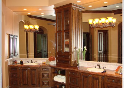 Beveled edge mirrors