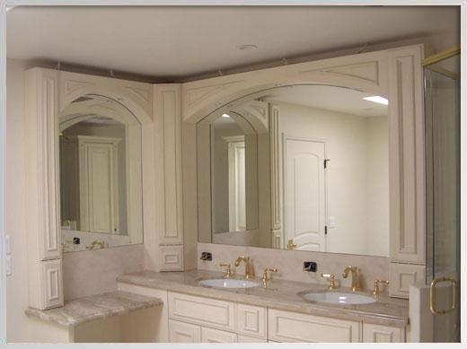 Bathroom mirrors a cut above glass for Custom made mirrors for bathrooms