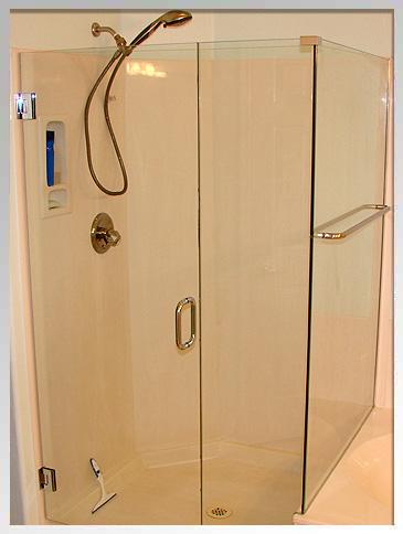 Frameless shower door after