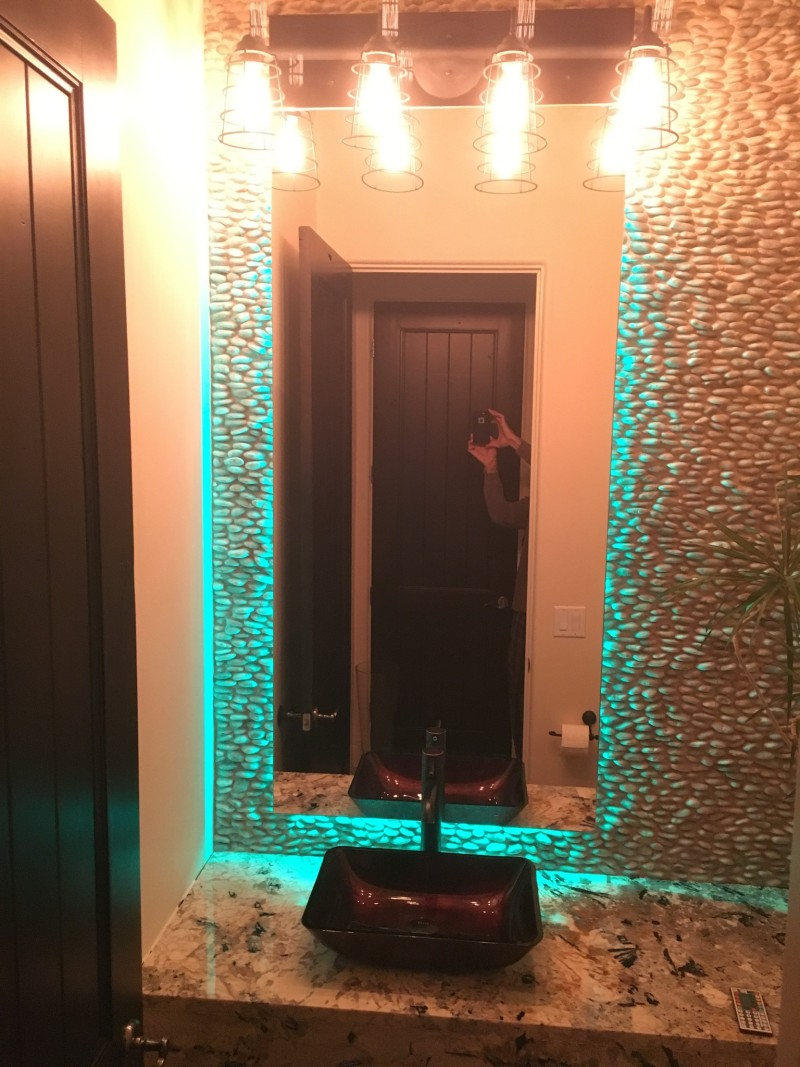 Modern Standoff Mirrors With Led Lighting A Cut Above Glass